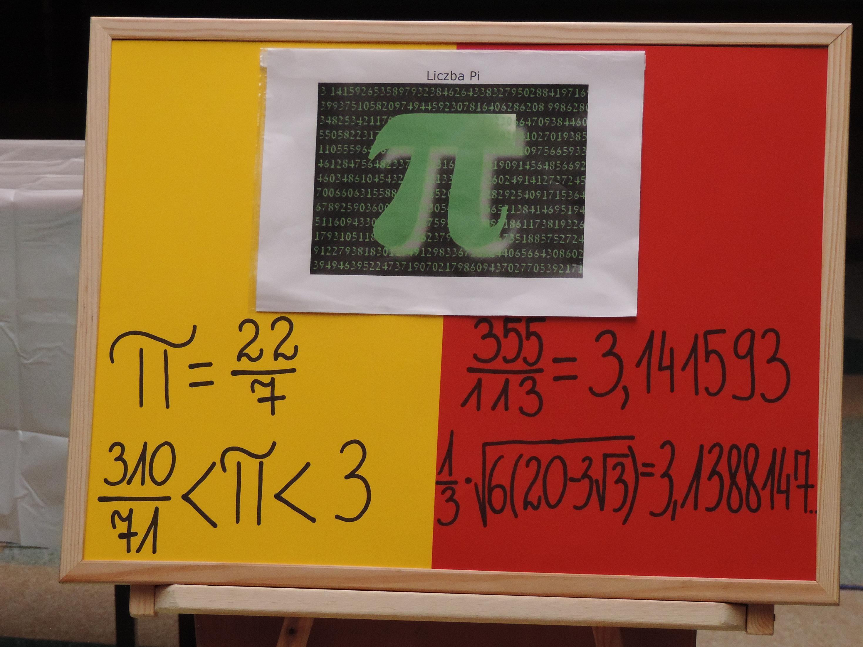 światowy Dzień Liczby Pi W Pg Nr 2 W Małkini Zdjęcia